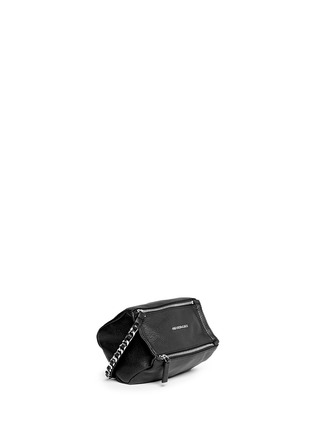Front View - Click To Enlarge - GIVENCHY - 'Pandora' leather wristlet pouch