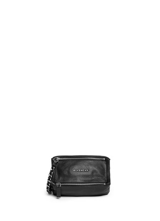 Main View - Click To Enlarge - GIVENCHY - 'Pandora' leather wristlet pouch