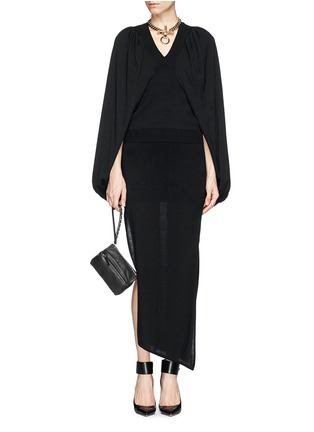 Figure View - Click To Enlarge - GIVENCHY - 'Pandora' leather wristlet pouch
