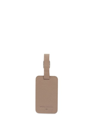 Back View - Click To Enlarge - BYND ARTISAN - Single window leather luggage tag