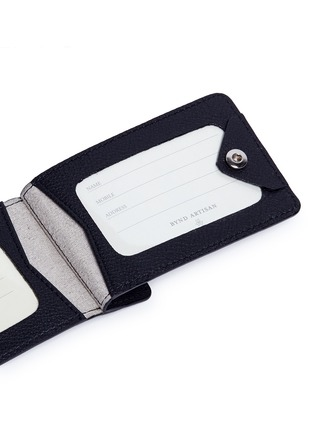Detail View - Click To Enlarge - Bynd Artisan - Double window leather luggage tag