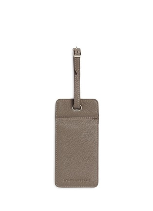 Main View - Click To Enlarge - Bynd Artisan - Double window leather luggage tag