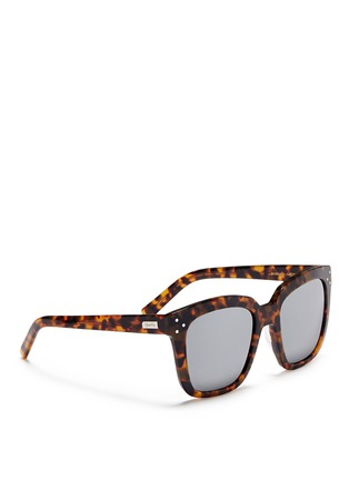 Figure View - Click To Enlarge - Spektre - 'Romano' tortoiseshell acetate oversize square mirror sunglasses