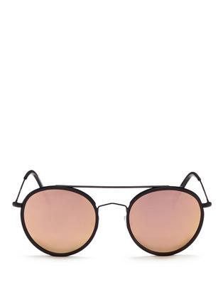 Main View - Click To Enlarge - Spektre - 'Vanni' metal round mirror sunglasses
