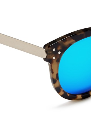 Detail View - Click To Enlarge - Spektre - 'Isabel' tortoiseshell acetate round mirror sunglasses