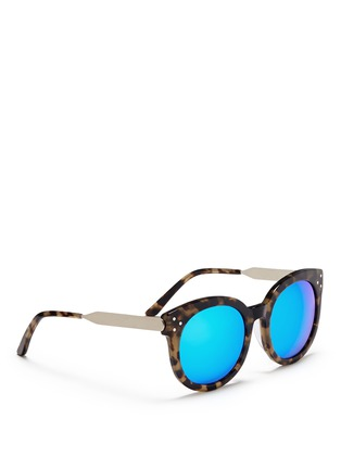 Figure View - Click To Enlarge - Spektre - 'Isabel' tortoiseshell acetate round mirror sunglasses