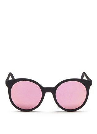 Main View - Click To Enlarge - Spektre - 'Stardust' flat mirror lens acetate round sunglasses