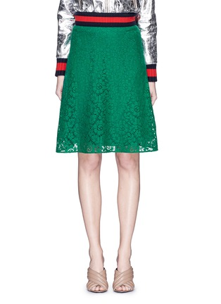 Main View - Click To Enlarge - Gucci - Cluny lace midi skirt