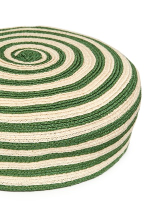 Detail View - Click To Enlarge - Gucci - Stripe hemp-cotton straw beret hat