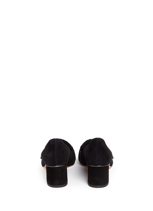 Back View - Click To Enlarge - Gucci - 'Marmont' kiltie fringe suede loafer pumps