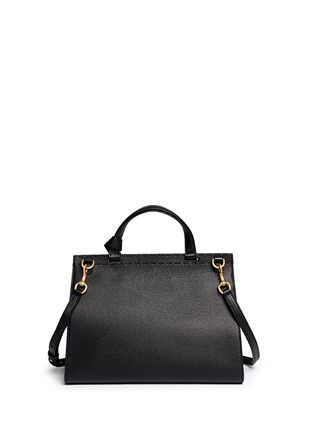 Back View - Click To Enlarge - Gucci - 'GG Marmont' medium grainy leather shoulder bag
