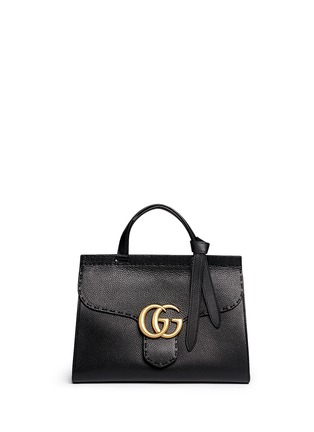 Main View - Click To Enlarge - Gucci - 'GG Marmont' medium grainy leather shoulder bag