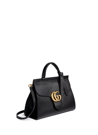 Figure View - Click To Enlarge - Gucci - 'GG Marmont' medium grainy leather shoulder bag