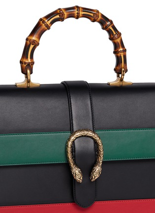 Detail View - Click To Enlarge - GUCCI - 'Dionysus' small bamboo handle floral print leather bag