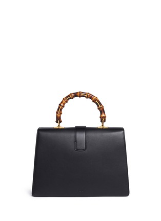 Back View - Click To Enlarge - GUCCI - 'Dionysus' small bamboo handle floral print leather bag