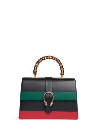 Main View - Click To Enlarge - GUCCI - 'Dionysus' small bamboo handle floral print leather bag