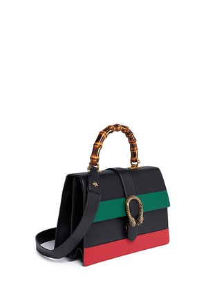 Figure View - Click To Enlarge - GUCCI - 'Dionysus' small bamboo handle floral print leather bag