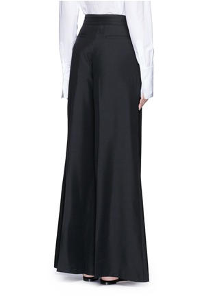 Back View - Click To Enlarge - Valentino - Silk wide leg pants