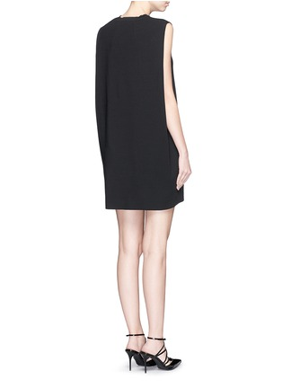 Back View - Click To Enlarge - Valentino - Cape back sleeveless knit dress