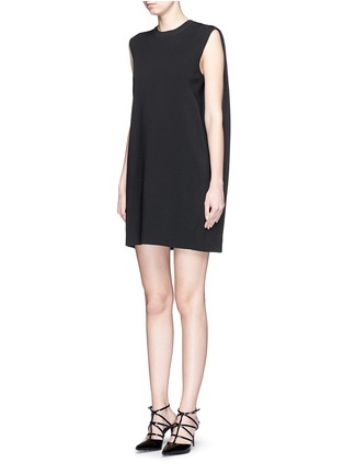 Front View - Click To Enlarge - Valentino - Cape back sleeveless knit dress