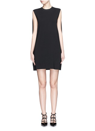 Main View - Click To Enlarge - Valentino - Cape back sleeveless knit dress