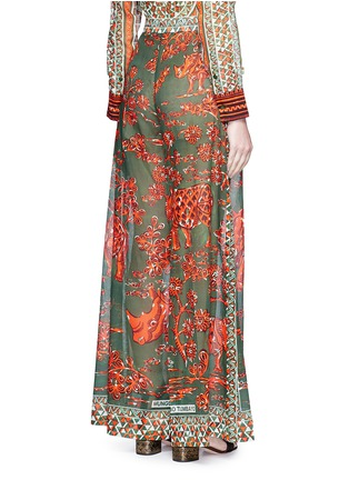 Back View - Click To Enlarge - Valentino - Tribal rhinoceros print wide leg pants