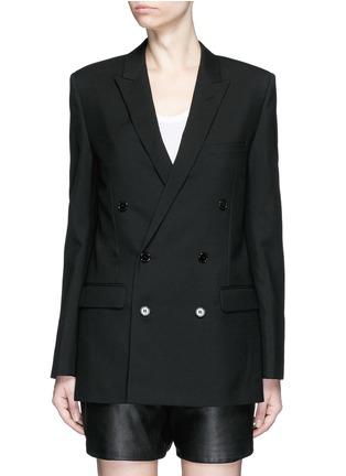 Main View - Click To Enlarge - SAINT LAURENT - Virgin wool gabardine blazer