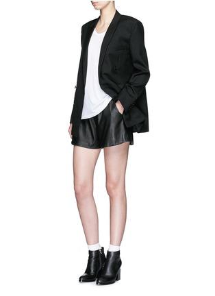 Figure View - Click To Enlarge - SAINT LAURENT - Virgin wool gabardine blazer