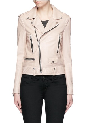 Main View - Click To Enlarge - SAINT LAURENT - Asymmetric zip front leather motorcycle jacket