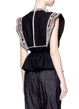Back View - Click To Enlarge - Isabel Marant - 'Blaine' bead embroidered rope tie top
