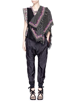 Figure View - Click To Enlarge - Isabel Marant - 'Blaine' bead embroidered rope tie top