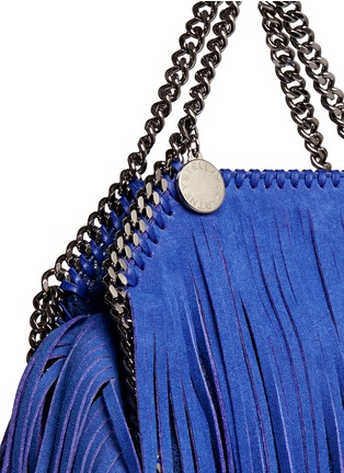 Detail View - Click To Enlarge - Stella McCartney - 'Falabella' tiny fringe crossbody chain tote