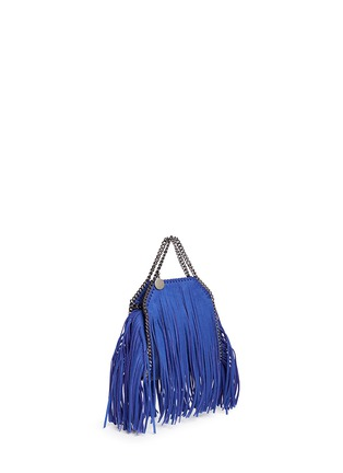 Front View - Click To Enlarge - Stella McCartney - 'Falabella' tiny fringe crossbody chain tote