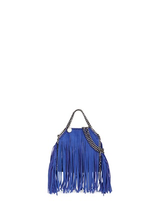 Main View - Click To Enlarge - Stella McCartney - 'Falabella' tiny fringe crossbody chain tote