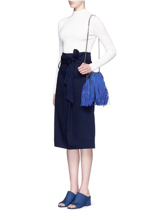 Figure View - Click To Enlarge - Stella McCartney - 'Falabella' tiny fringe crossbody chain tote