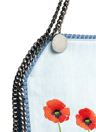 Detail View - Click To Enlarge - Stella McCartney - 'Falabella' small poppy denim chain tote