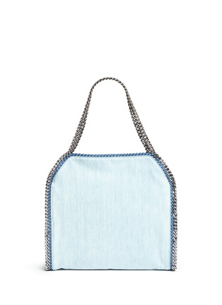 Back View - Click To Enlarge - Stella McCartney - 'Falabella' small poppy denim chain tote