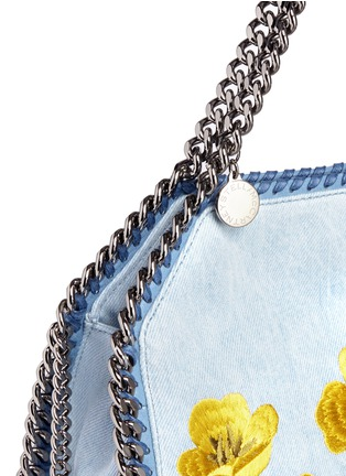 Detail View - Click To Enlarge - Stella McCartney - Falabella' mini botanical denim chain tote