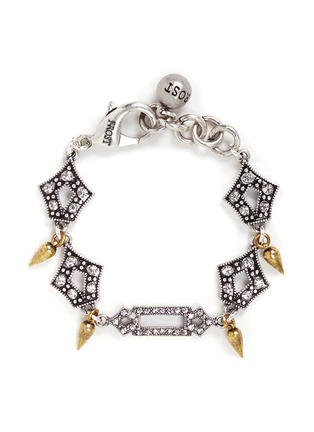 Main View - Click To Enlarge - Lulu Frost - 'Symmetry' glass crystal pavé cutout charm bracelet