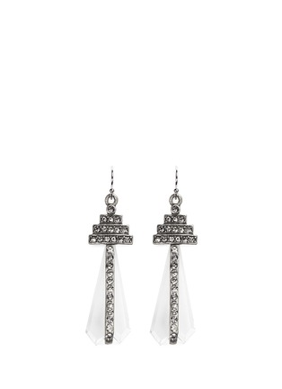 Main View - Click To Enlarge - Lulu Frost - 'Crystaline' glass crystal pavé drop earrings