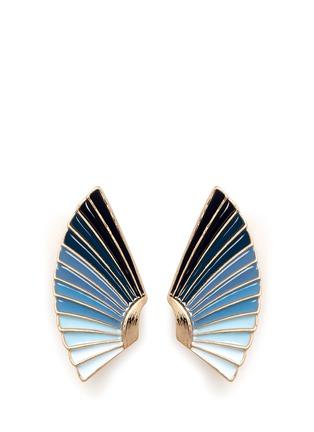 Main View - Click To Enlarge - Lulu Frost - 'Horizon' ombré enamel fan stud earrings
