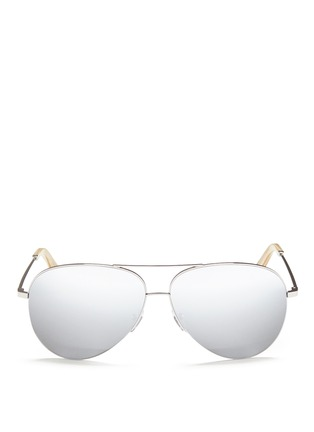 Main View - Click To Enlarge - Victoria Beckham - 'Classic Victoria' mirror aviator sunglasses