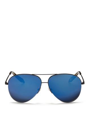 Main View - Click To Enlarge - Victoria Beckham - 'Classic Victoria' mirror aviator sunglasses