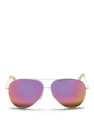 Main View - Click To Enlarge - 10691 - 'CLASSIC VICTORIA' MIRROR AVIATOR SUNGLASSES