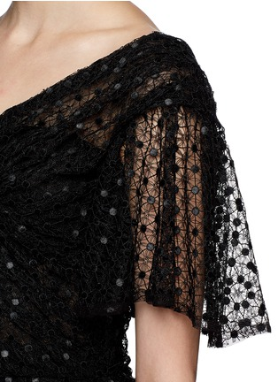 Detail View - Click To Enlarge - Dolce & Gabbana - Macramé mesh lace mermaid hem gown