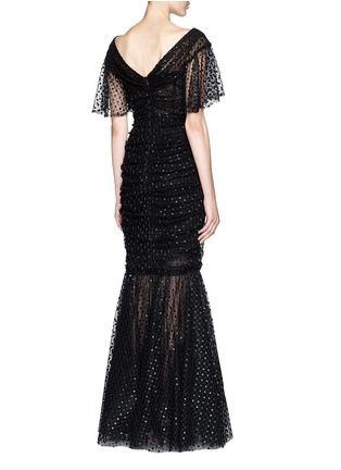 Back View - Click To Enlarge - Dolce & Gabbana - Macramé mesh lace mermaid hem gown