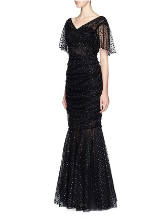 Figure View - Click To Enlarge - Dolce & Gabbana - Macramé mesh lace mermaid hem gown