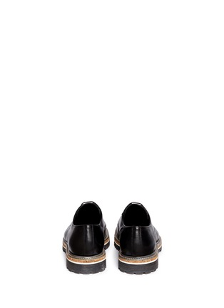 Back View - Click To Enlarge - Armani Collezioni - Five eyelet leather Derbies