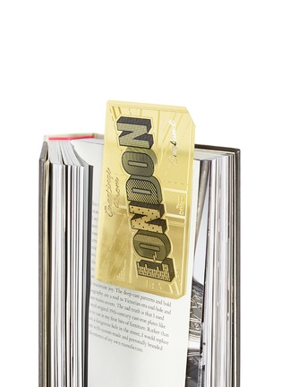 Detail View - Click To Enlarge - Tom Dixon - Tool the Bookworm postcard bookmark