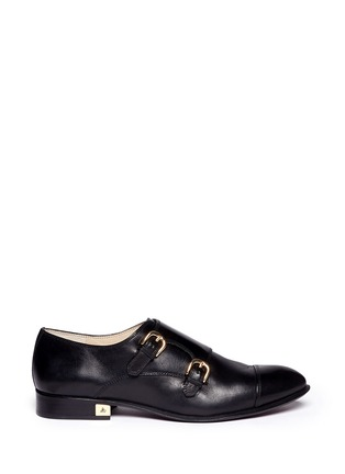 Main View - Click To Enlarge - Sam Edelman - 'Balfour' leather monk strap shoes